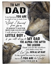 """YOU ARE THE WORLD - GREAT GIFT FOR DAD FROM SON Small Fleece Blanket - 30"""" x 40"""" thumbnail"""