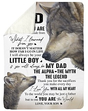 """YOU ARE THE WORLD - GREAT GIFT FOR DAD FROM SON Large Sherpa Fleece Blanket - 60"""" x 80"""" thumbnail"""