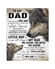 """YOU ARE THE WORLD - GREAT GIFT FOR DAD FROM SON Quilt 40""""x50"""" - Baby thumbnail"""