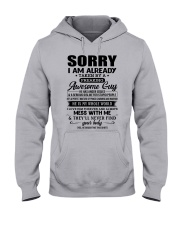I AM ALREADY FREAKING AWESOME GUY Hooded Sweatshirt front