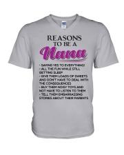 REASONS TO BE A NANA V-Neck T-Shirt thumbnail