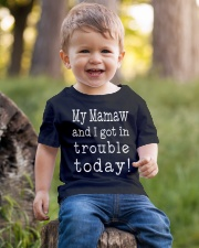 MY MAMAW ND I GOT IN TROUBLE TODAY Youth T-Shirt lifestyle-youth-tshirt-front-4