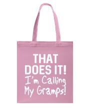 Calling Gramps Tote Bag thumbnail