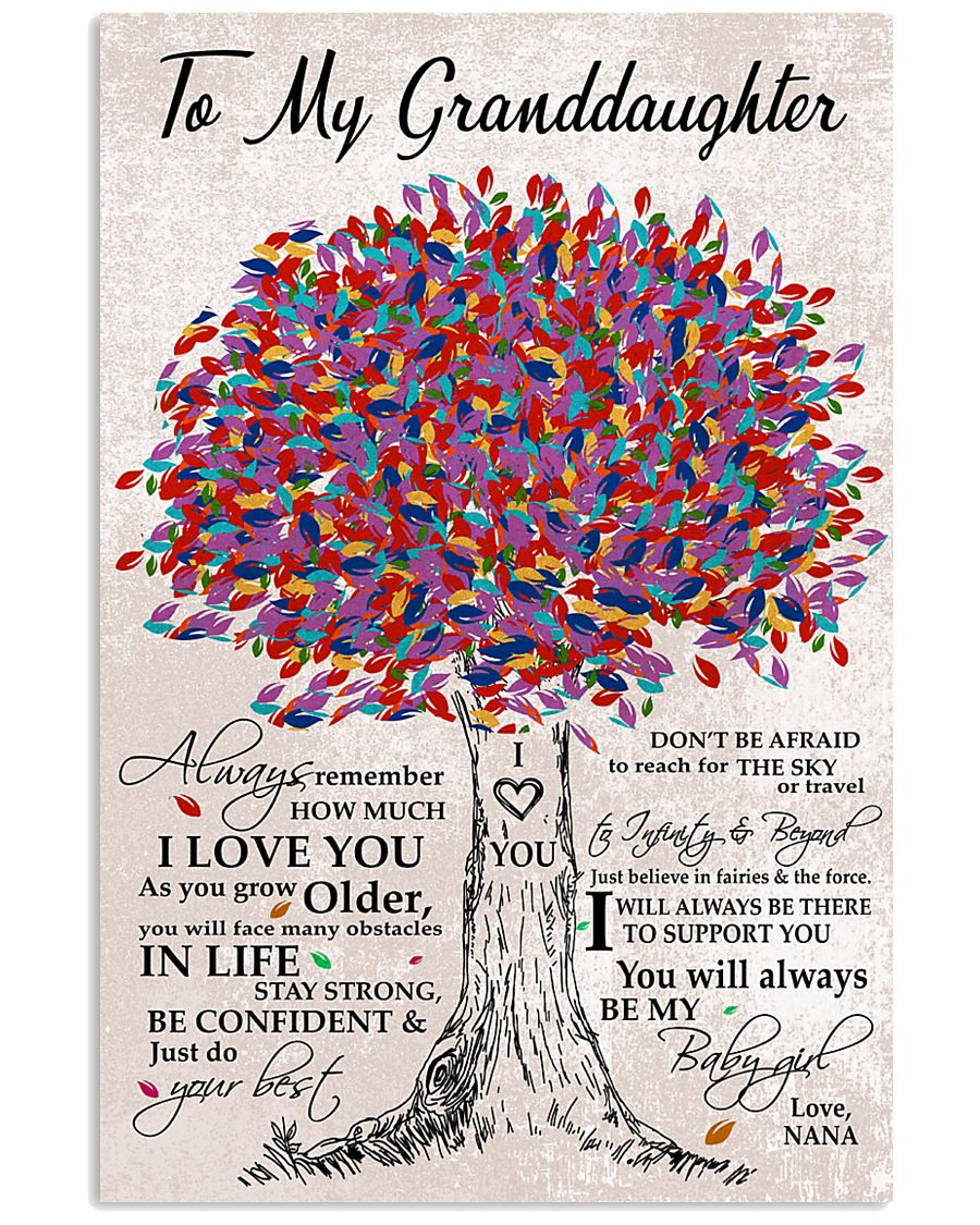 I LOVE YOU - BEST GIFT FOR GRANDDAUGHTER 11x17 Poster