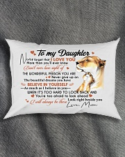 BELIEVE IN YOURSELF - BEAUTIFUL GIFT TO DAUGHTER Rectangular Pillowcase aos-pillow-rectangle-front-lifestyle-1