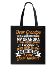 Thanks For Being My Grandpa Tote Bag thumbnail