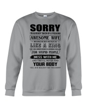 A FREAKING AWESOME WIFE Crewneck Sweatshirt thumbnail