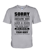 A FREAKING AWESOME WIFE V-Neck T-Shirt thumbnail