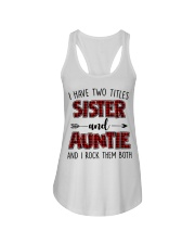 I HAVE TWO TITLES SISTER AND AUNTIE Ladies Flowy Tank thumbnail