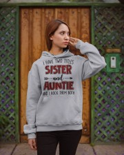 I HAVE TWO TITLES SISTER AND AUNTIE Hooded Sweatshirt apparel-hooded-sweatshirt-lifestyle-02
