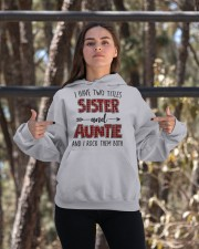 I HAVE TWO TITLES SISTER AND AUNTIE Hooded Sweatshirt apparel-hooded-sweatshirt-lifestyle-05