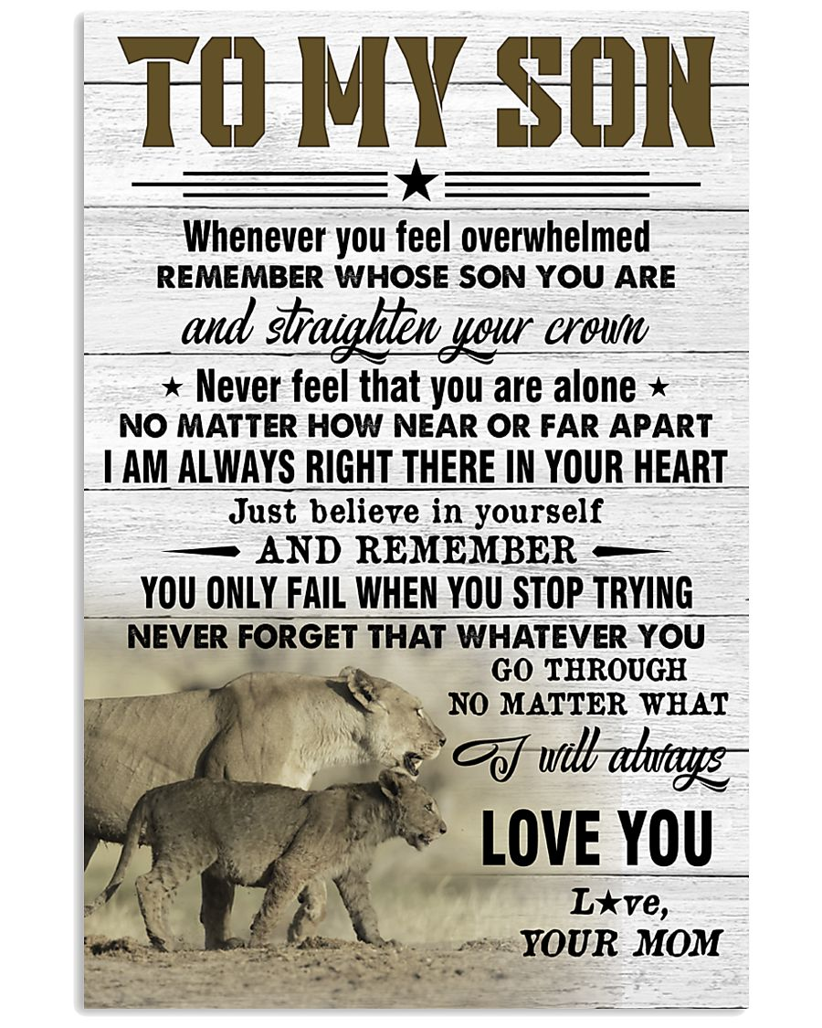 STRAIGHTEN YOUR CROWN - AMAZING GIFT FOR SON 11x17 Poster
