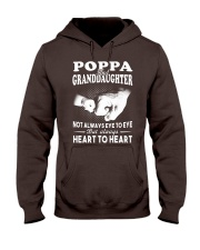 Poppa And Granddaughter Always Heart To Heart Hooded Sweatshirt thumbnail