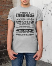 I'M A STUBBORN SON Classic T-Shirt apparel-classic-tshirt-lifestyle-31