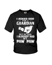 Guardian Is My Paw Paw  Youth T-Shirt front