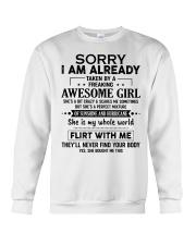 SHE IS MY WHOLE WORLD Crewneck Sweatshirt thumbnail