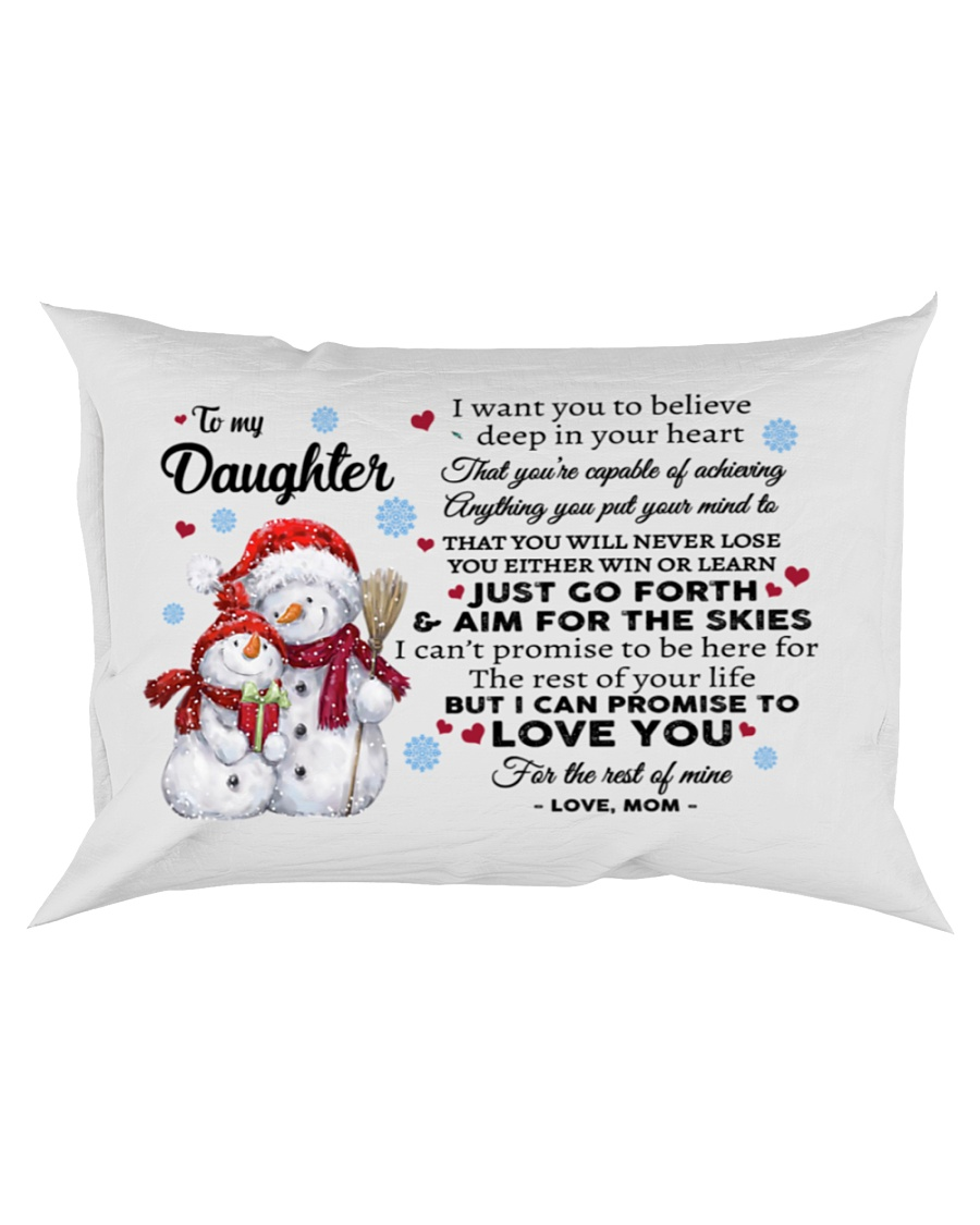 YOU WILL NEVER LOSE - BEST GIFT FOR DAUGHTER Rectangular Pillowcase