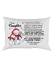 YOU WILL NEVER LOSE - BEST GIFT FOR DAUGHTER Rectangular Pillowcase front
