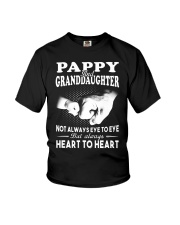 Pappy And Granddaughter Always Heart To Heart Youth T-Shirt front