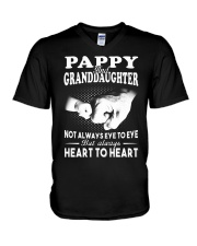 Pappy And Granddaughter Always Heart To Heart V-Neck T-Shirt thumbnail