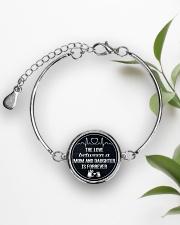 1 DAY LEFT - GET YOURS NOW  Metallic Circle Bracelet aos-bracelet-metal-front-lifestyle-4