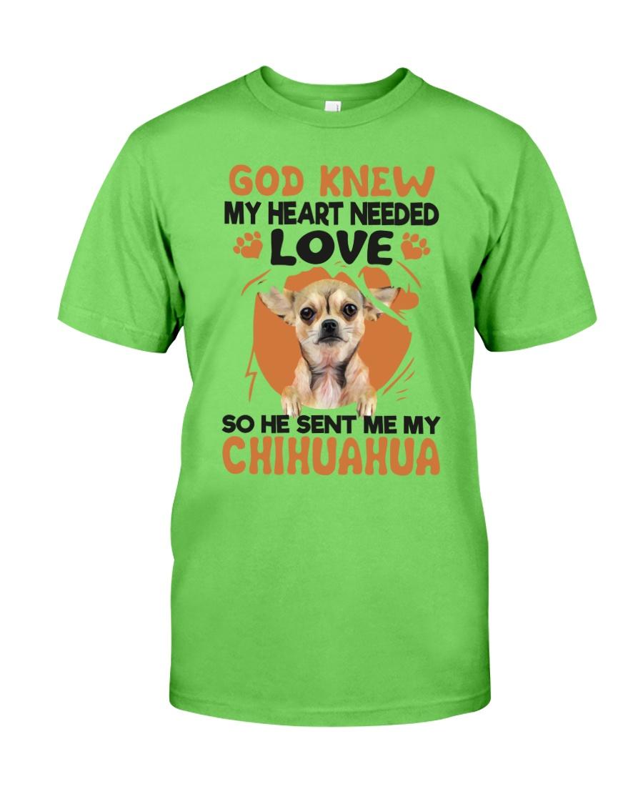 GOD SENT ME MY CHIHUAHUA Classic T-Shirt