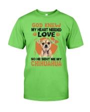 GOD SENT ME MY CHIHUAHUA Classic T-Shirt front