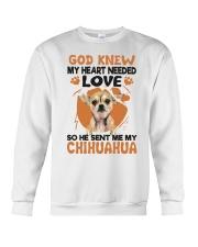 GOD SENT ME MY CHIHUAHUA Crewneck Sweatshirt thumbnail