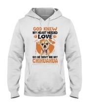 GOD SENT ME MY CHIHUAHUA Hooded Sweatshirt thumbnail