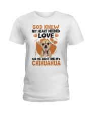 GOD SENT ME MY CHIHUAHUA Ladies T-Shirt thumbnail