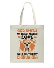 GOD SENT ME MY CHIHUAHUA Tote Bag thumbnail