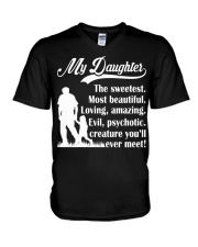You'll Meet My Sweetest Daughter V-Neck T-Shirt thumbnail