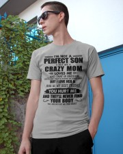 SHE IS MY BEST FRIEND - BEST GIFT FOR SON FROM MOM Classic T-Shirt apparel-classic-tshirt-lifestyle-17