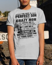 SHE IS MY BEST FRIEND - BEST GIFT FOR SON FROM MOM Classic T-Shirt apparel-classic-tshirt-lifestyle-29
