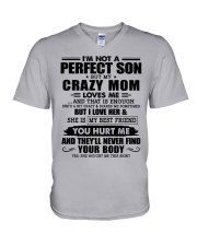 SHE IS MY BEST FRIEND - BEST GIFT FOR SON FROM MOM V-Neck T-Shirt thumbnail