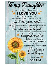 I LOVE YOU - BEST GIFT FOR DAUGHTER FROM MOM 11x17 Poster thumbnail