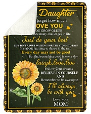 "I LOVE YOU - BEST GIFT FOR DAUGHTER FROM MOM Large Sherpa Fleece Blanket - 60"" x 80"" thumbnail"