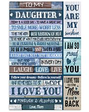I LOVE YOU - BEST GIFT FOR DAUGHTER FROM MOM 11x17 Poster front