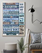 I LOVE YOU - BEST GIFT FOR DAUGHTER FROM MOM 11x17 Poster lifestyle-poster-1