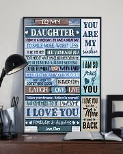 I LOVE YOU - BEST GIFT FOR DAUGHTER FROM MOM 11x17 Poster lifestyle-poster-2