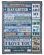 I LOVE YOU - BEST GIFT FOR DAUGHTER FROM MOM Fleece Blanket tile