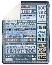 I LOVE YOU - BEST GIFT FOR DAUGHTER FROM MOM Sherpa Fleece Blanket tile