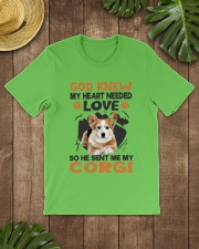 GOD SENT ME MY CORGI Classic T-Shirt lifestyle-mens-crewneck-front-18