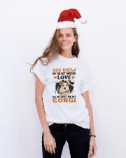 GOD SENT ME MY CORGI Classic T-Shirt lifestyle-holiday-crewneck-front-1