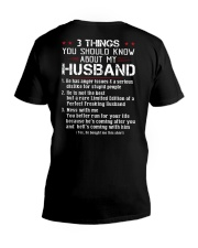 3 THINGS SHOULD KNOW ABOUT MY HUSBAND V-Neck T-Shirt thumbnail