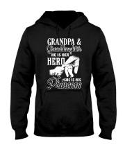 He Is Her Hero - She Is His Princess Hooded Sweatshirt thumbnail