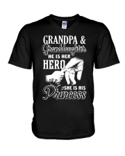 He Is Her Hero - She Is His Princess V-Neck T-Shirt thumbnail