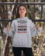 LIVING THE DREAM - LOVELY GIFT FOR DAUGHTER Hooded Sweatshirt apparel-hooded-sweatshirt-lifestyle-05