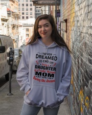 LIVING THE DREAM - LOVELY GIFT FOR DAUGHTER Hooded Sweatshirt lifestyle-unisex-hoodie-front-1