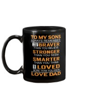 To My Sons Always Remember Mug back